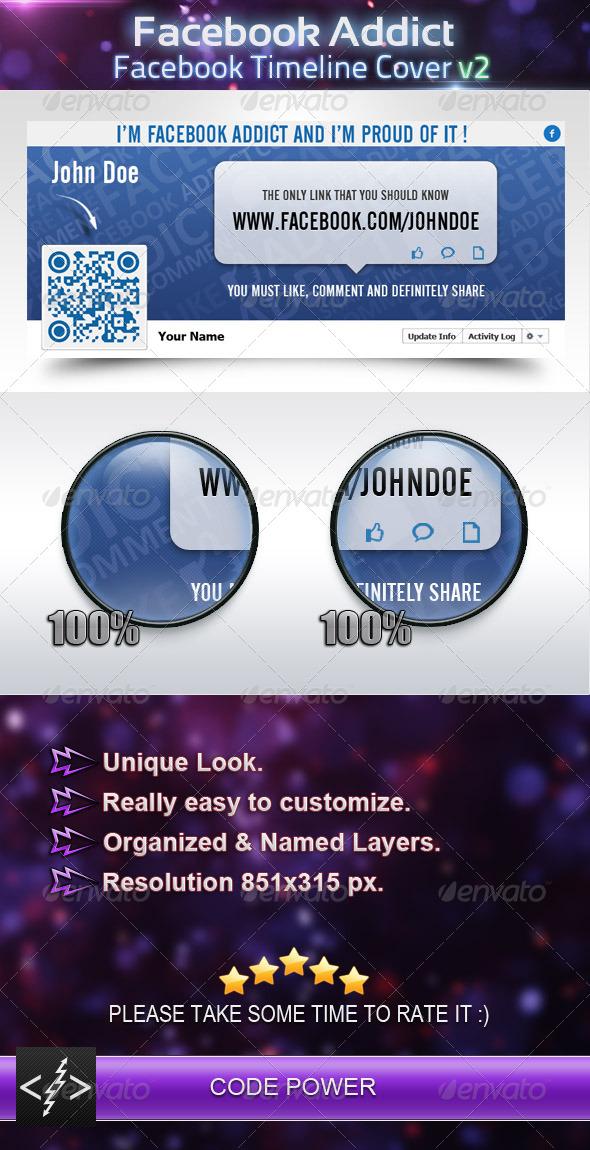 GraphicRiver Facebook Addict Facebook Timeline Cover v2 4329104