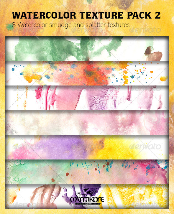 GraphicRiver Watercolor Texture Pack 2 4384127