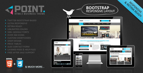POINT Business Responsive Web Template