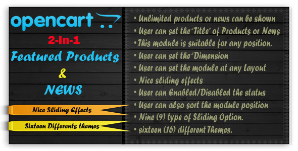 OpenCart Featured Products and News - CodeCanyon Item for Sale