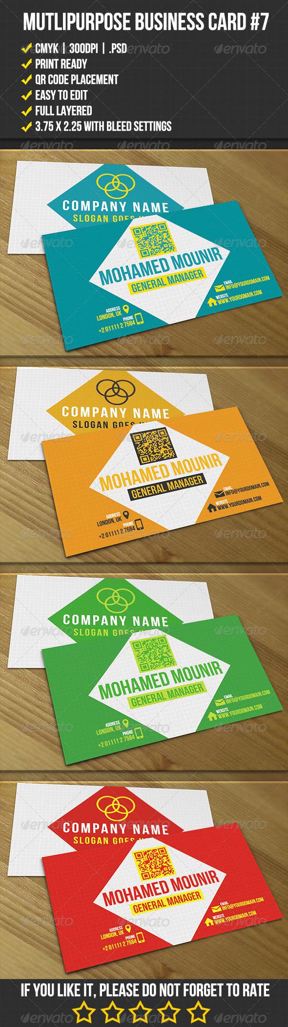 GraphicRiver Multipurpose Business Card 7 4384372