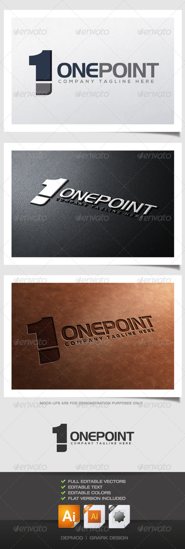 GraphicRiver One Point Logo 4384470