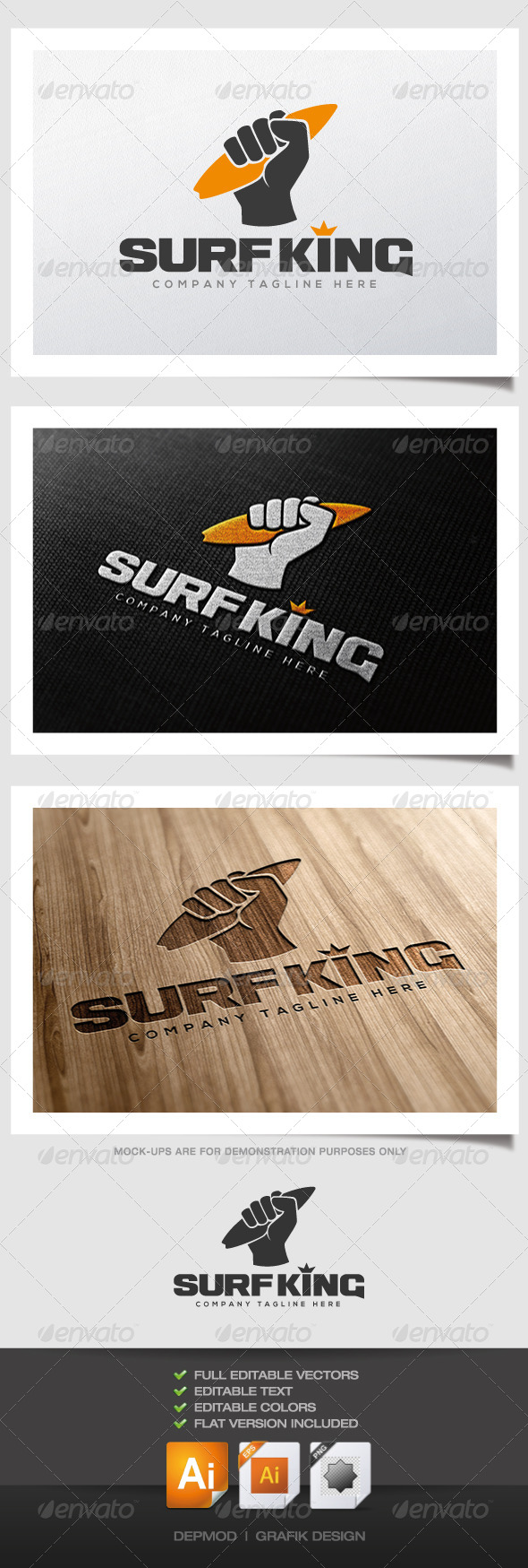 GraphicRiver Surf King logo 4384480