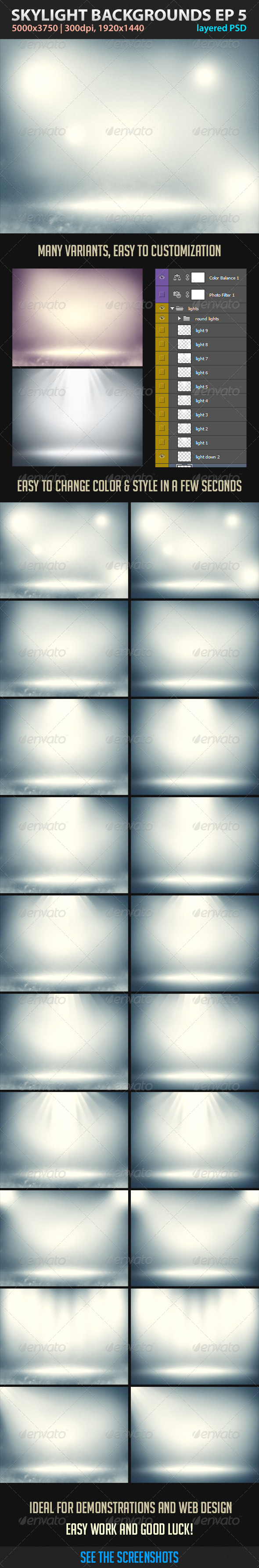 Skylight Backgrounds EP 5 - Abstract Backgrounds
