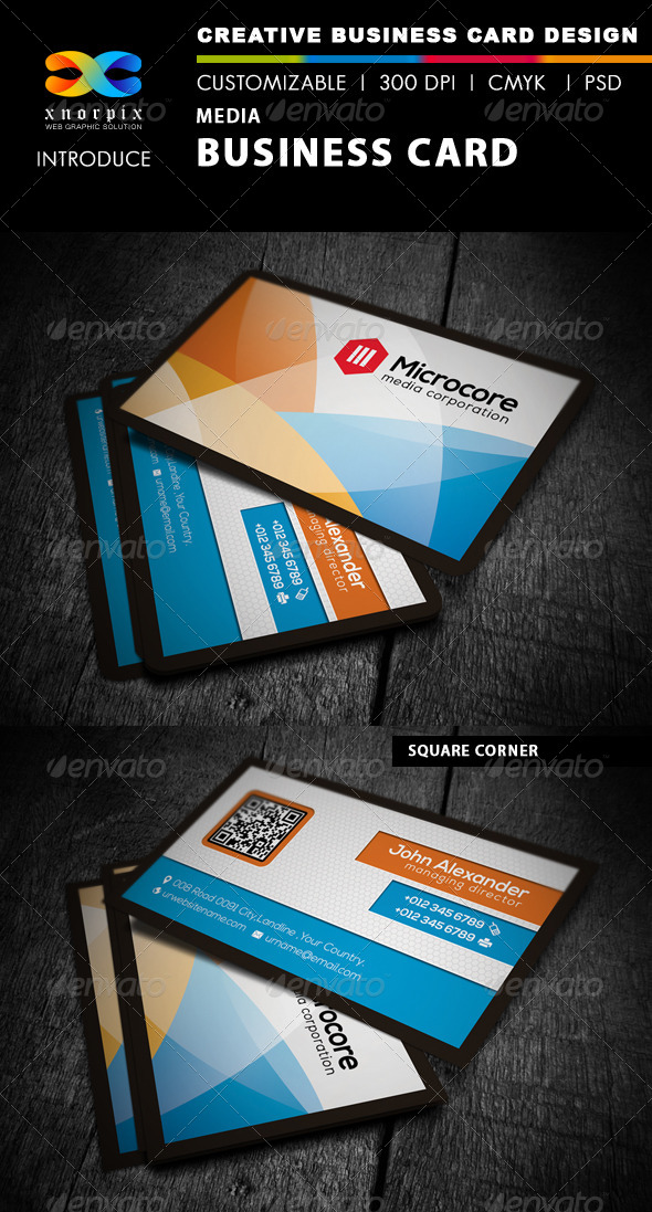 GraphicRiver Media Business Card 4384513