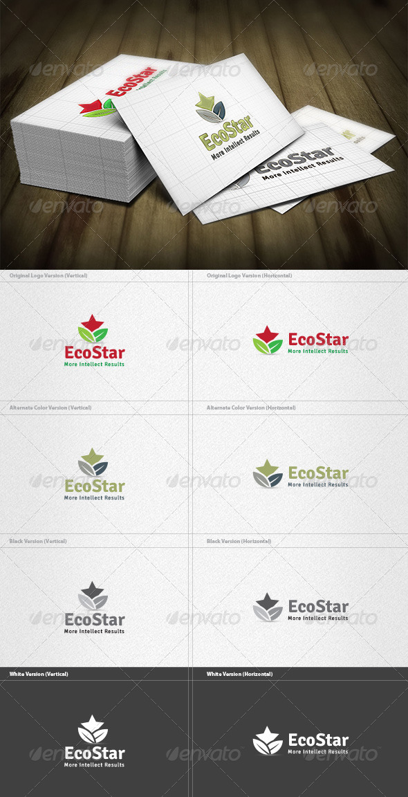 GraphicRiver Eco Star Logo 4384563