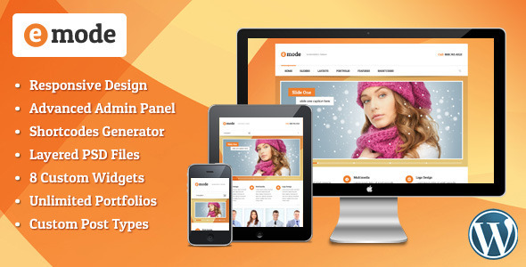 ThemeForest emode Responsive Multipurpose WordPress theme 4355567