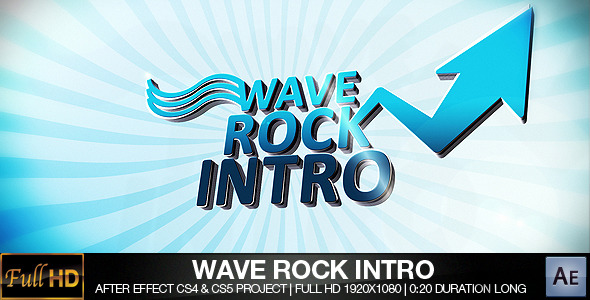 After Effects Project - VideoHive Wave Rock Intro CS4 460036