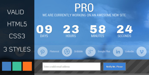 ThemeForest PRO Under Construction HTML Template 4384819