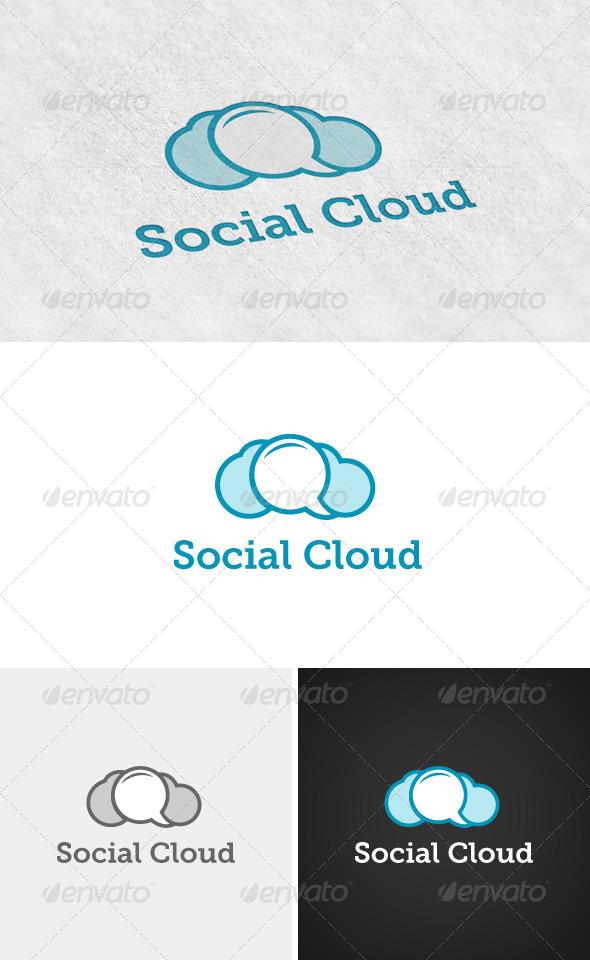 GraphicRiver Social Cloud Logo 4385932