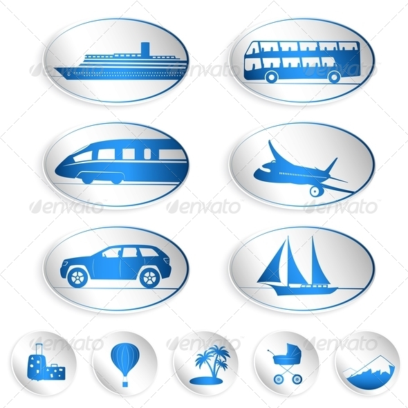 GraphicRiver Travel Labels Logos and Stickers 4385948