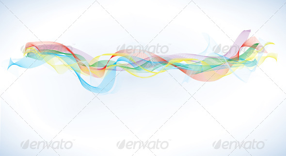 GraphicRiver Abstract Blend Rainbow Ribbon 4385986