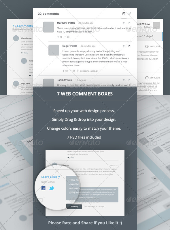 GraphicRiver 7 Web Comment Boxes 4321790