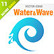 Water & Wave icons - GraphicRiver Item for Sale