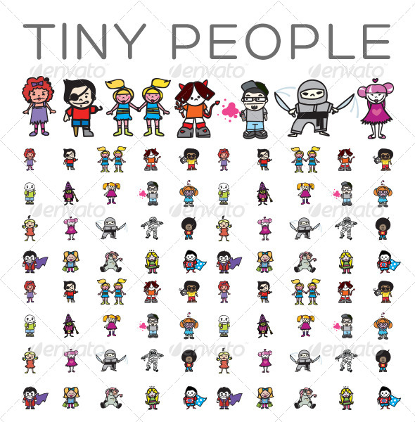 GraphicRiver Tiny People 4386613