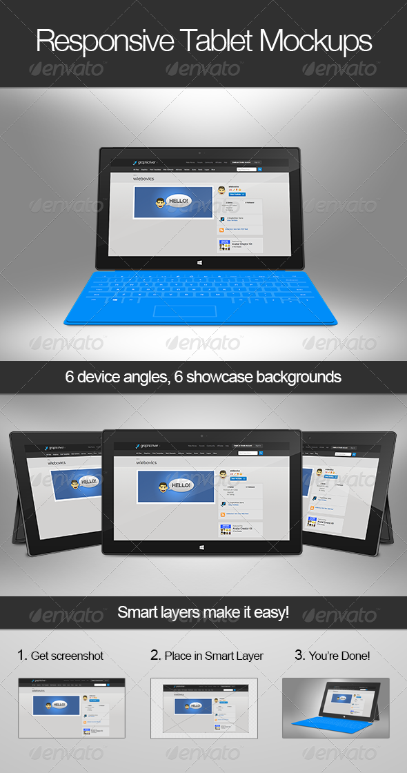 GraphicRiver Responsive Tablet Mockups 4351691