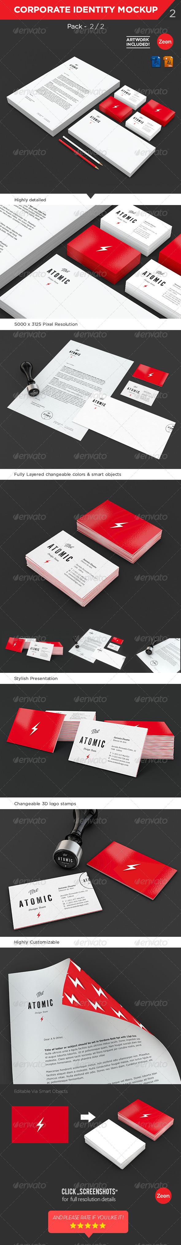 Brand Identity Stationary Mockup Pack 2 2