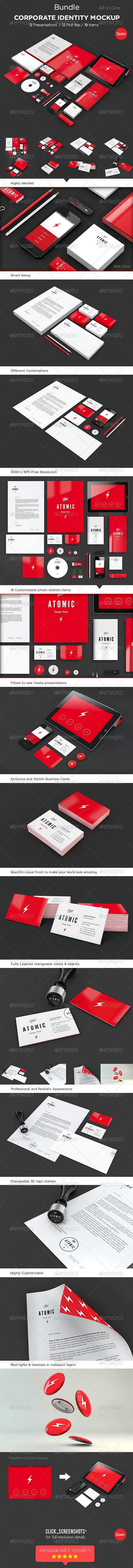 GraphicRiver Corporate Identity Mockup Bundle 4340081