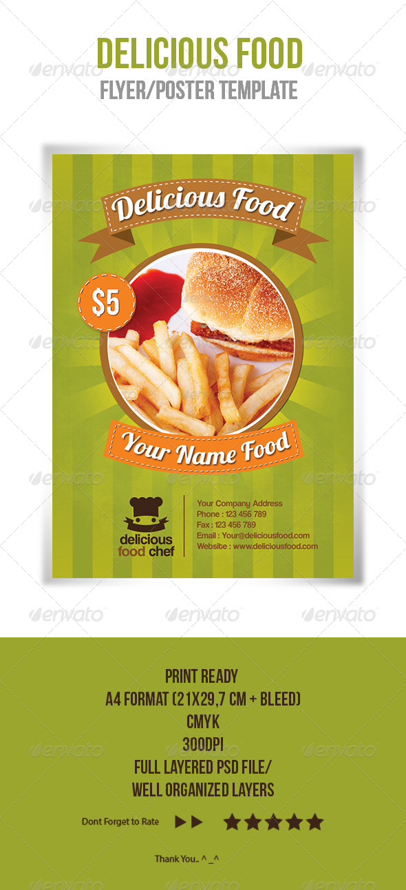 Delicious Food Flyer Template - Restaurant Flyers