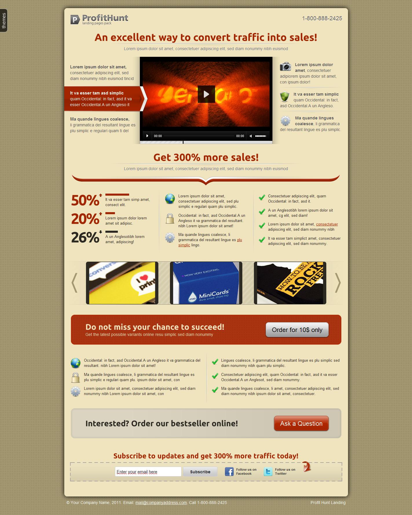 ProftHunt Landing Page