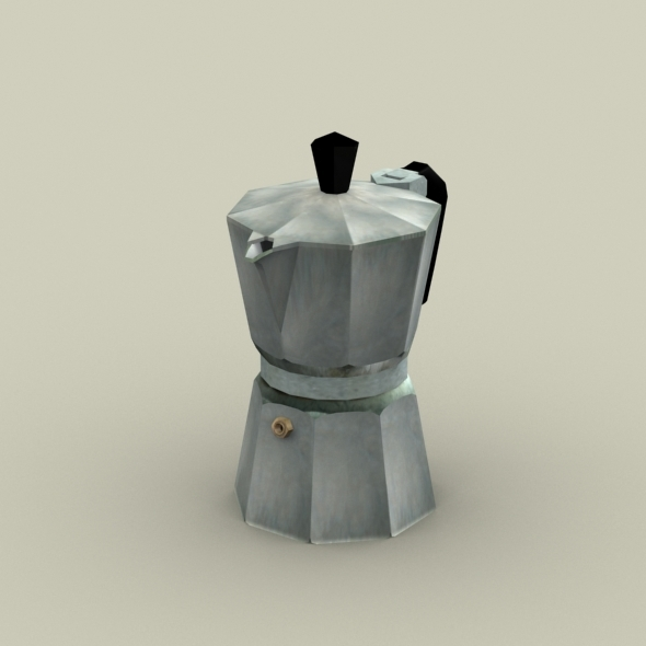 Moka Pot- Coffe Maker - 3DOcean Item for Sale