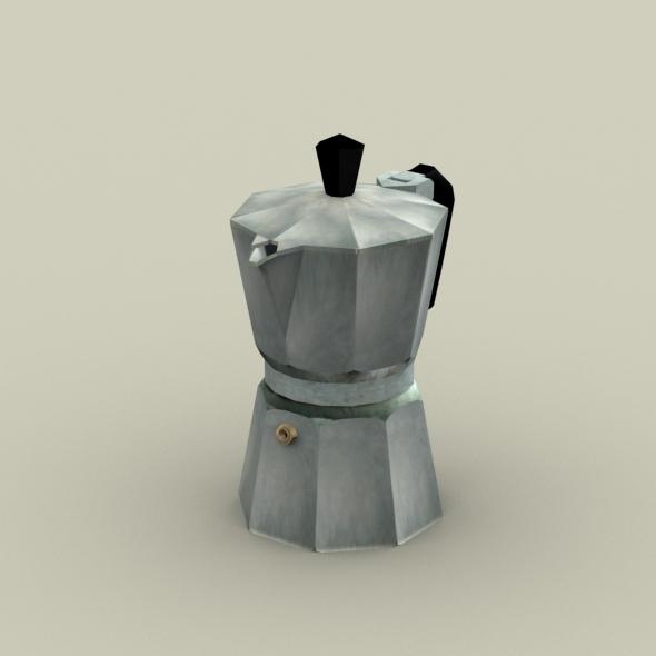3DOcean Moka Pot- Coffe Maker 4348847