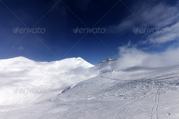 Ski slopes - Stock Photo - Images