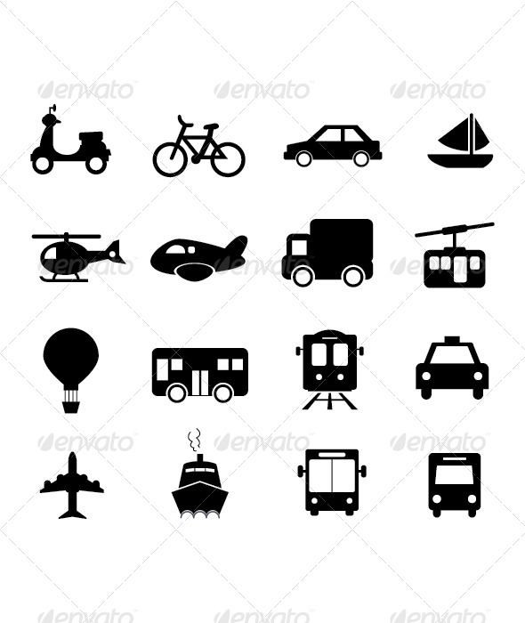 GraphicRiver Transportation Icon 4387807