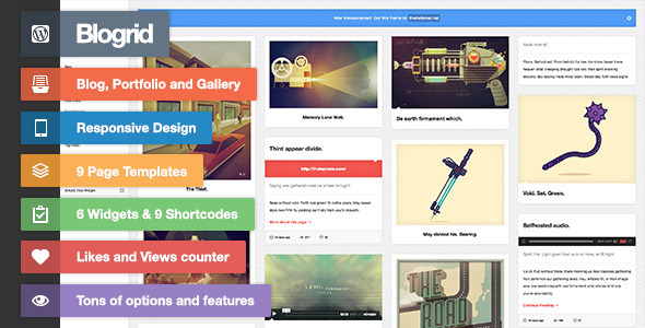 ThemeForest Blogrid Grid-Based WordPress theme 4359764