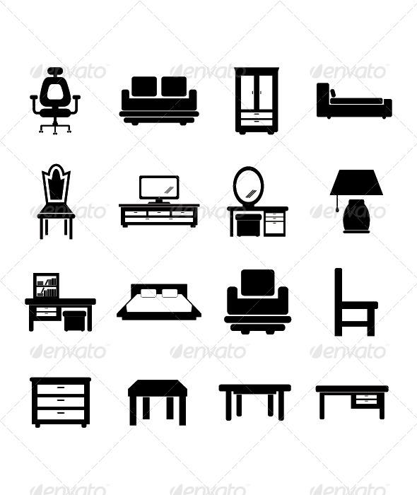 GraphicRiver Furniture Icon 4388330