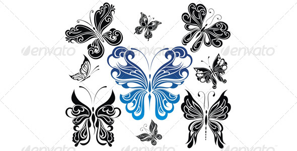 GraphicRiver Butterflies Collection 4388365