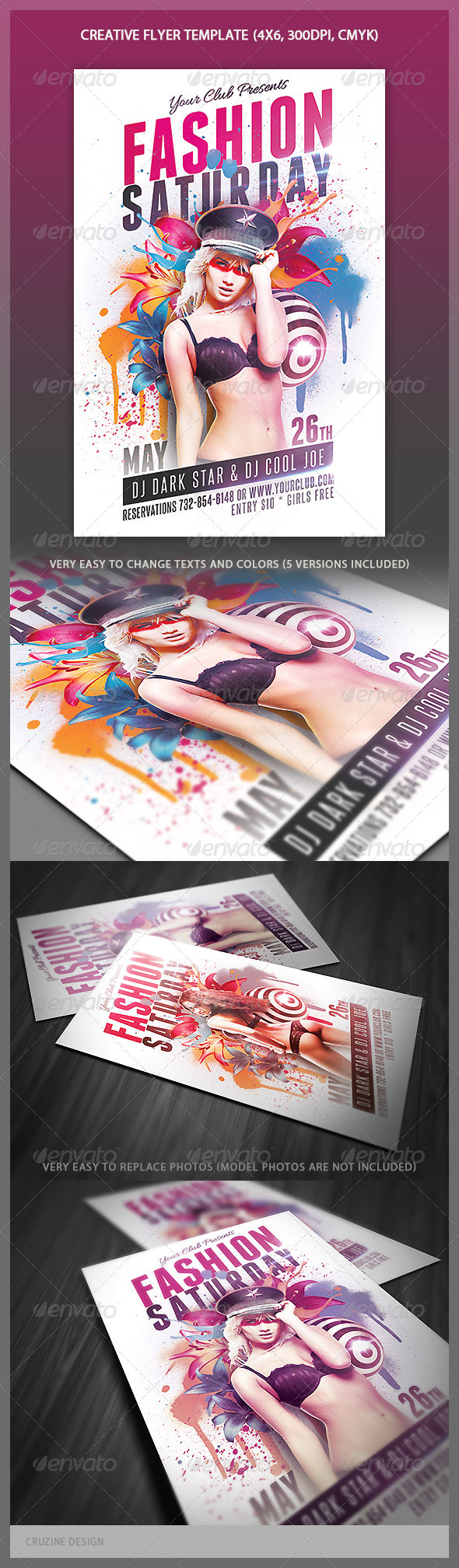 GraphicRiver Creative Style Flyer Template 4388404