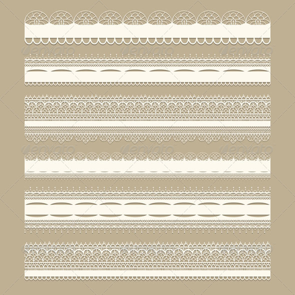 GraphicRiver Vector Lacy Ribbons 4389068