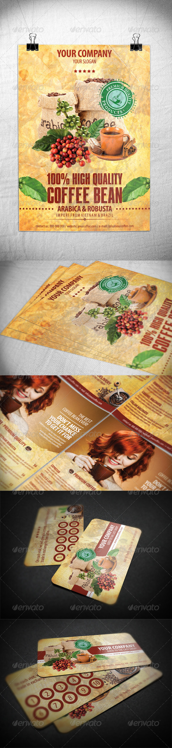 GraphicRiver Coffee Bundle 1 4389720