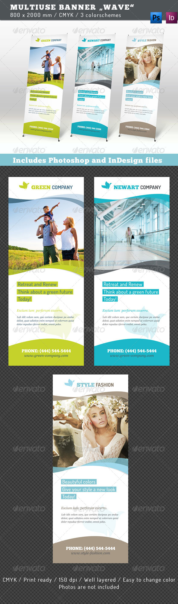 GraphicRiver Multiuse Banner Wave 4389755