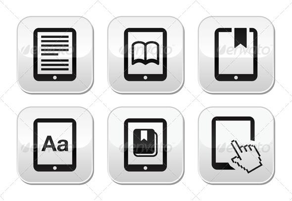 GraphicRiver E-book Reader Vector Buttons Set 4389809