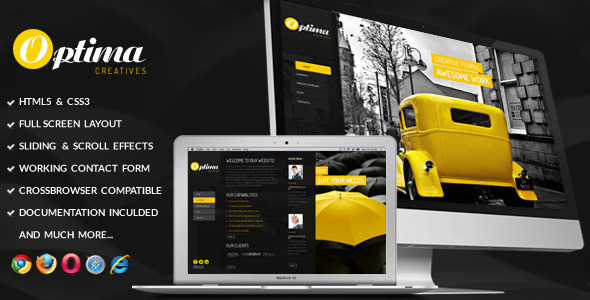 Optima - Fullscreen Onepage Template