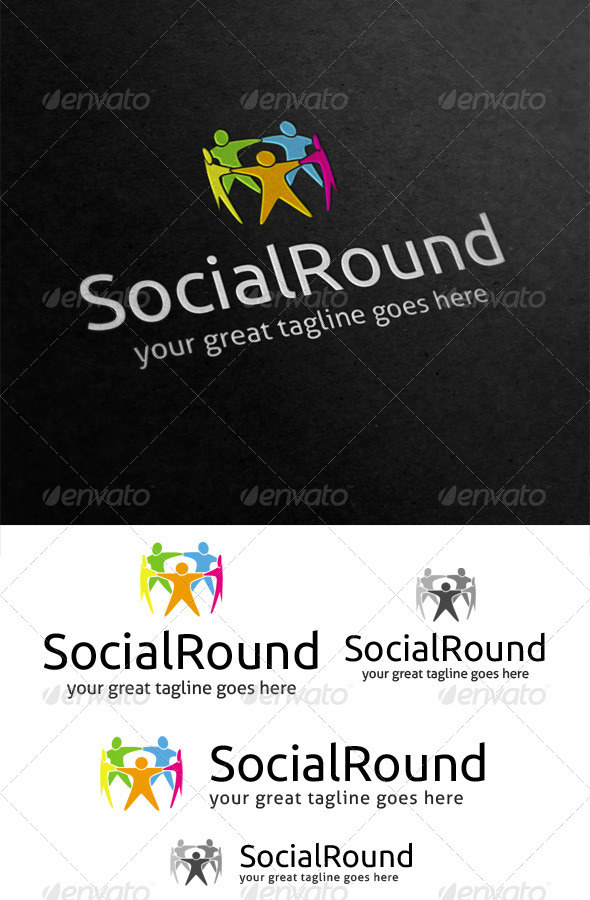 Social Round Logo - Humans Logo Templates