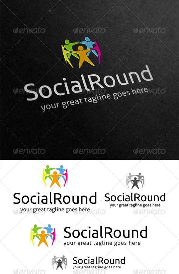 GraphicRiver Social Round Logo 4114427