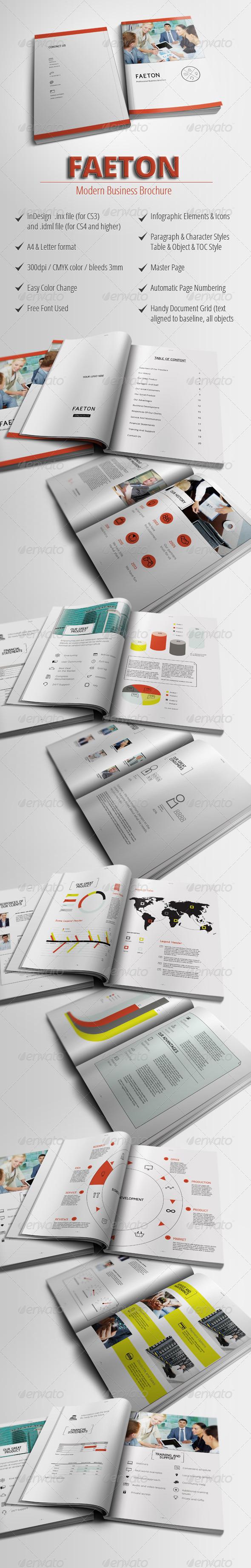 GraphicRiver Faeton Business Brochure 4390058