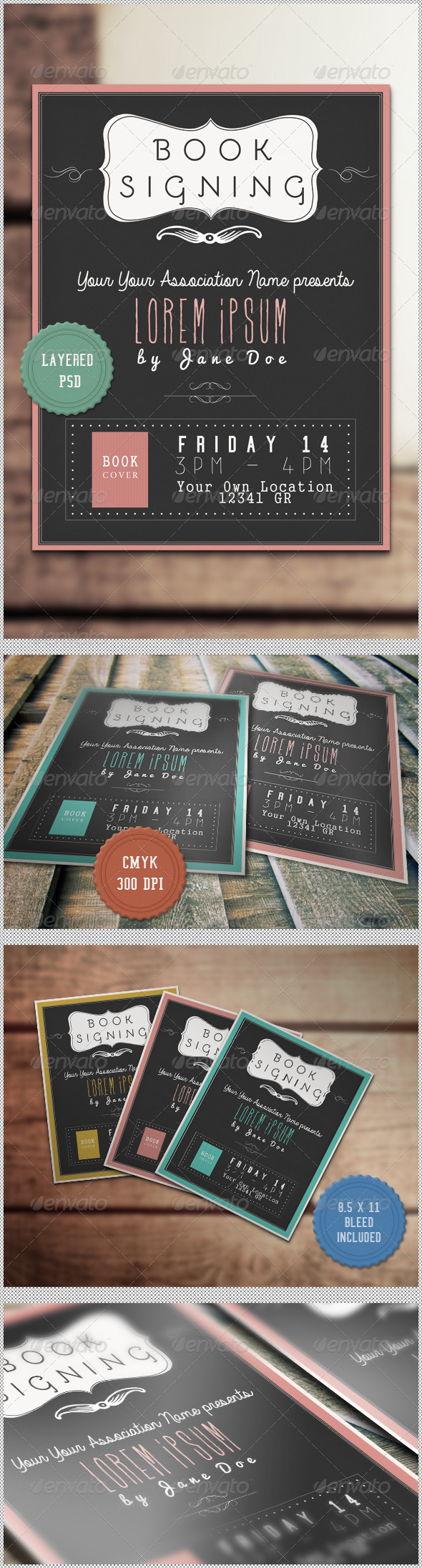 GraphicRiver Book Signing Flyer 4390222