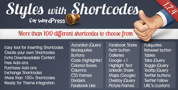 Styles with Shortcodes for WordPress - CodeCanyon Item for Sale