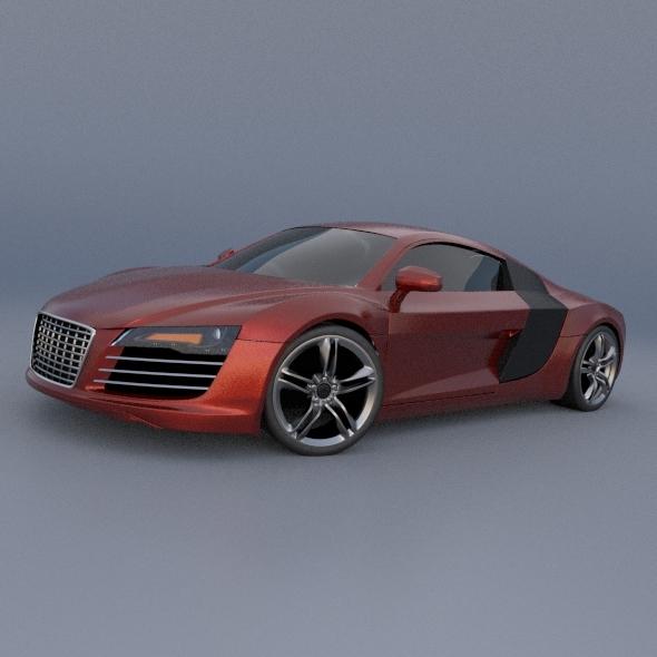Audi R8 sports car restyled