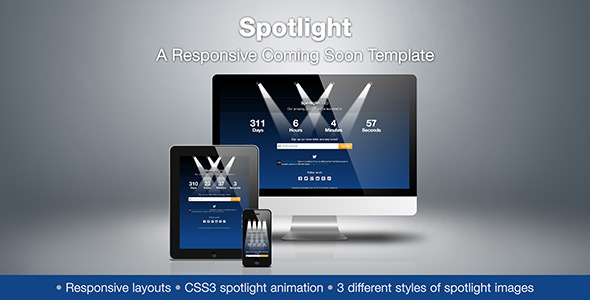 Spotlight - A Responsive Coming Soon Template