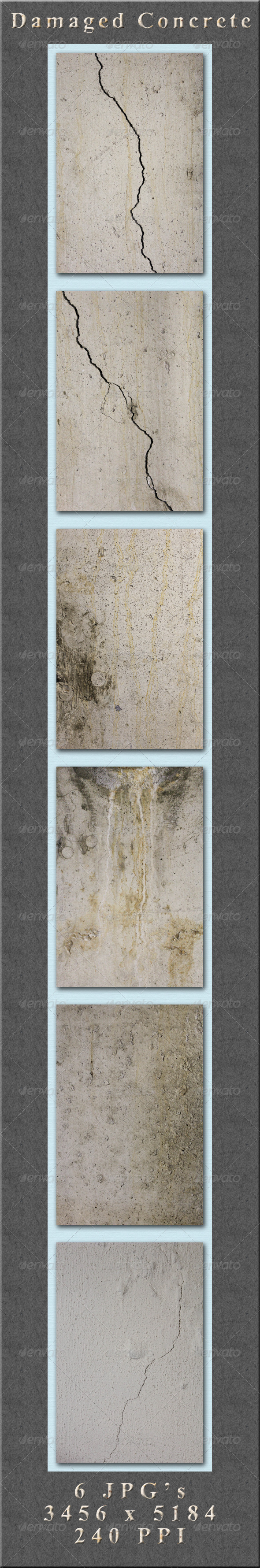 GraphicRiver Damaged Concrete 4329541