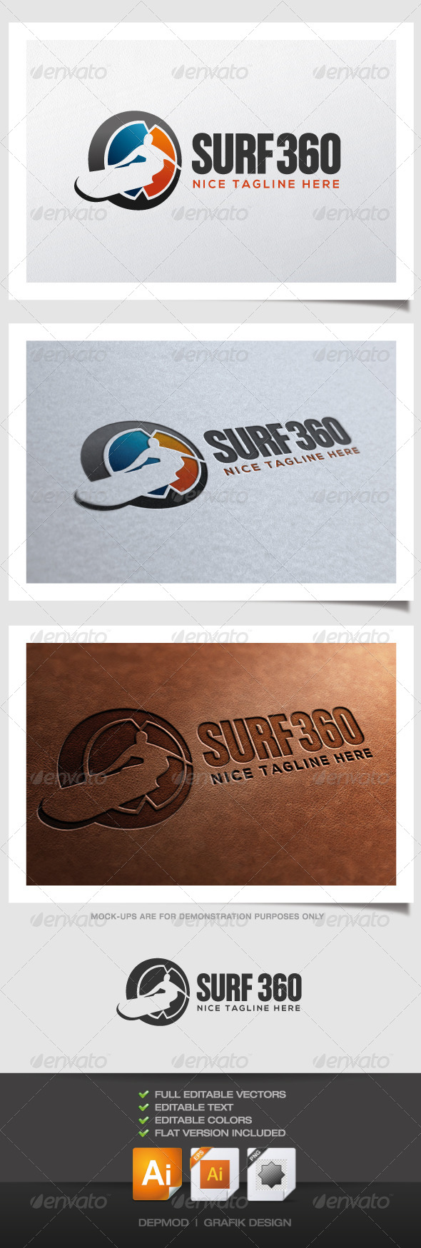 GraphicRiver Surf 360 Logo 4391423