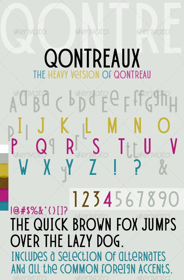 GraphicRiver Qontreaux Bold Elegant Modern Typeface 4391653