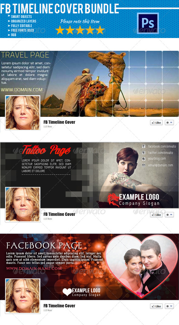 Facebook Timeline Cover Bundle 02 - Facebook Timeline Covers Social Media