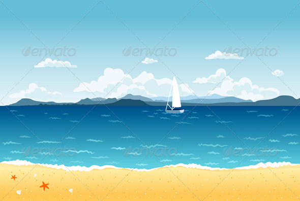 GraphicRiver Summer Landscape 4391791