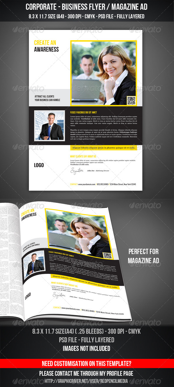 GraphicRiver Corporate Business Flyer Magazine AD 4391811